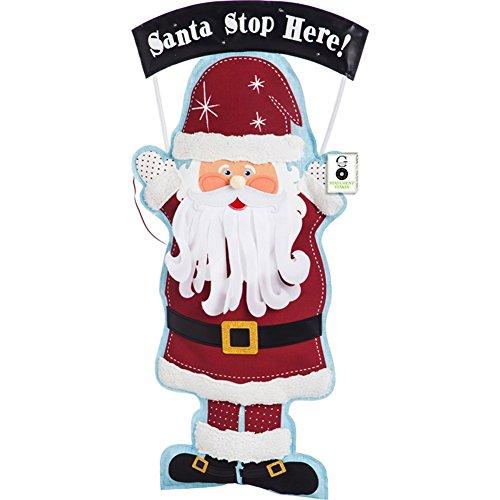 36 Inch Stake Wagon - Evergreen Santa Lighted Statement Stake