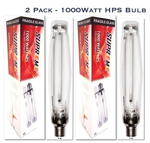 2 Pack - Supreme Super 1000Watt HPS Bulbs for Digital Electronic Grow Light Ballast … by Supreme