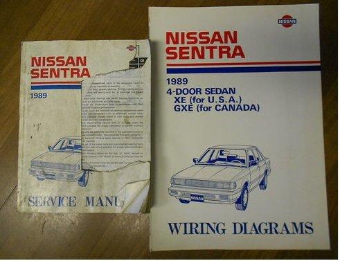 (1989 Nissan Sentra Sedan XE GXE Service Repair Shop Manual SET Factory OEM 89 (1989 Nissan Sentra Service Manual 1989 Sentra Wiring Diagram))