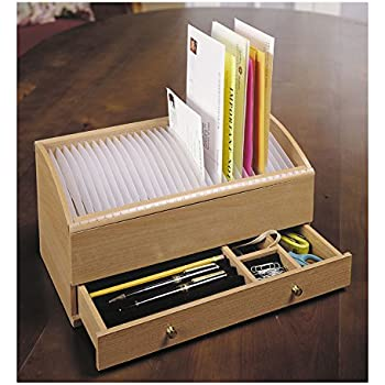 "Amazon.Com : 17"" - 31 Slot Wooden Bill/Letter Organizer With"