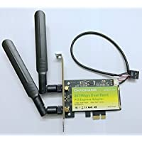CHAOHANG CH-I860 Desktop Dual Band Wireless PCI-E 1x Adapter Card 2.4Ghz-300Mbps/5Ghz-867Mbps with Bluetooth 4.0