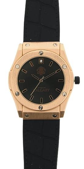 Reloj Calgary Golden Monterosso Black, Mujer, correa negra con esfera negra y dorada: Amazon.es: Relojes