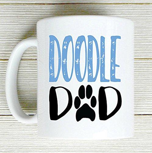 Doodle Dadコーヒーマグ、Golden Doodle恋人、ギフト、クリスマス、かわいいコーヒーマグ B079FVV8CG