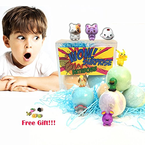 Price comparison product image Bath Bombs for Kids,Bath Bombs Gift Set,Bath Toys, Fizzy with Surprise Toys Inside, for Boys & Girls Lush Scent Bath Fizzies 3 pcs.bath bombs 3 pack Bath Bomb Japanese Toy Monster USA SELLER