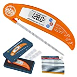 #1: Instant Thermometer, RISEPRO Digital Instant Read Cooking Thermometer Foldable with BBQ Internal Temperature Chart For Kitchen Meat Beef Poultry EN301