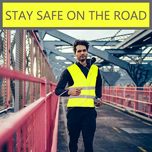Pack of 20 Bright Construction Vests Yellow Safety Reflector Vests bulk, with Visibility Strip, Perfect for Warehouses, Traffic and Parking Patrol by Upper Midland Products by Upper Midland Products (Image #5)