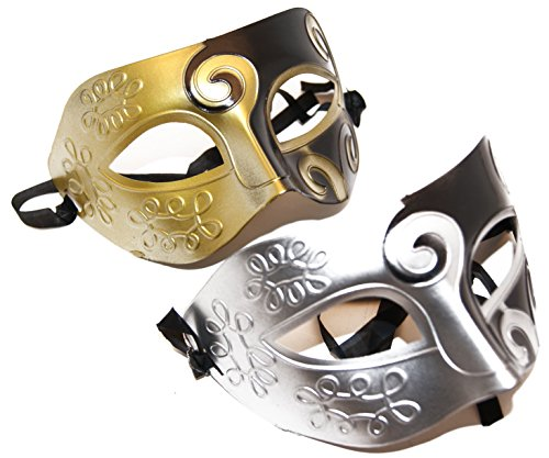 Black/Gold/Silver His and Her Mystery/ Party Mask/Halloween or Prom (His And Her Costumes For Adults)