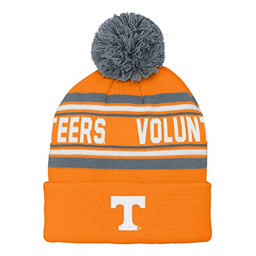 Gen 2 NCAA Tennessee Volunteers Kids & Youth Boys Jacquard Cuffed Knit with Pom, Kids One Size, Light Orange -