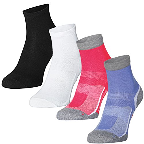DANISH ENDURANCE Quarter Pro Athletic Socks (US Women 11-13//US Men 9.5-12.5, Black 3 Pairs)