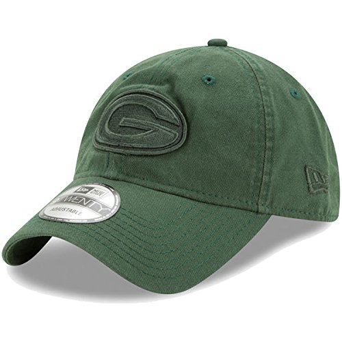 疼痛平和的帰するGreen Bay Packers新しいEra Core Classic Twillトーン9twenty Adjustable Hatグリーン