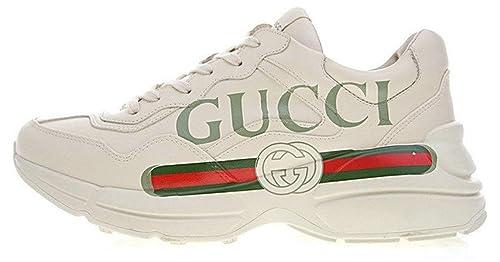 Gucci Rhyton Vintage Gucci Logo White Red Uomo Donna Scarpa  Amazon ... 9d62908d65f1