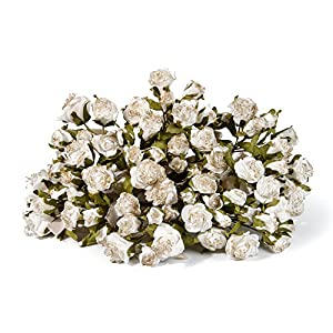 """8 Bundles Artificial Flowers Vintage Rose Bouquet In Bundles of 5 Artificial Plant Arrangement Lifelike Natural Fake Plant to Brighten Up Your Home Decor 11"""" Tall Including Stem Perfect For Wedding 68"""