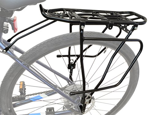 Lumintrail Bicycle Rear Frame Mounted Cargo Rack for Disc Bikes Height Adjustable Commuter Carrier by Lumintrail (Image #1)