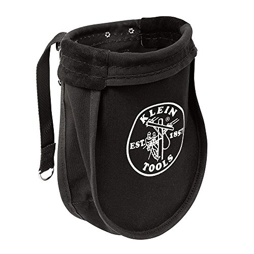 Utility Pouch Perfect for Carrying Nuts and Bolts, with Interior Pocket, Black No. 10 Canvas Klein Tools 51A