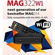 MAG 322 W1 IPTV SET TOP BOX Multimedia Player (HEVC H.265) With Built-In 150Mbps Wi-Fi & HDMI Cable (The evolution of Mag 254)