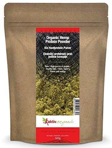Aktiv Organic BIO Hanfprotein Pulver, 1er Pack (1 x 500g) - BIO