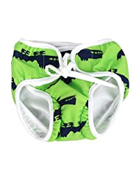 [Green] Reuseable Baby Swim Diaper Lovely Infant Swim Nappy Swimwear