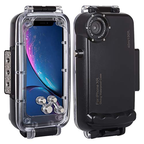 HAWEEL for iPhone XR Underwater Housing Professional [40m/130ft] Diving Case for Diving Surfing Swimming Snorkeling Photo Video with Lanyard (iPhone XR, Black)