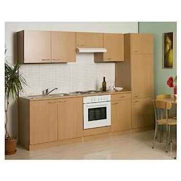 Mebasa MEBAKB2700M Küche, Küchenzeile, Einbauküche, Küchenblock 270 ...