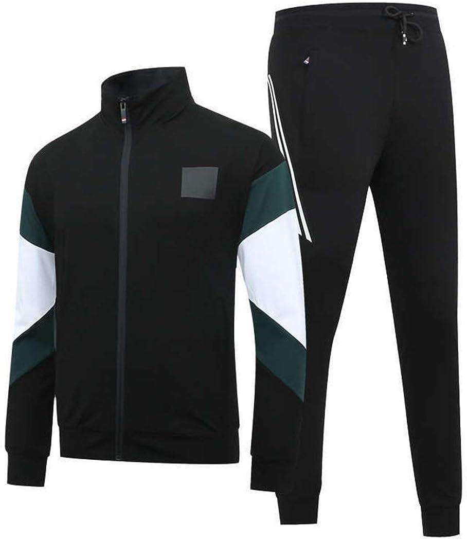 Sun Lorence Mens Athletic 2 Piece Tracksuit Set Casual Full Zip Jogging Sweatsuit