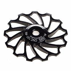 MNtech New 13T MTB Ceramic Bearing Jockey Wheel Pulley Road Bike Bicycle Rear Derailleur (Black)