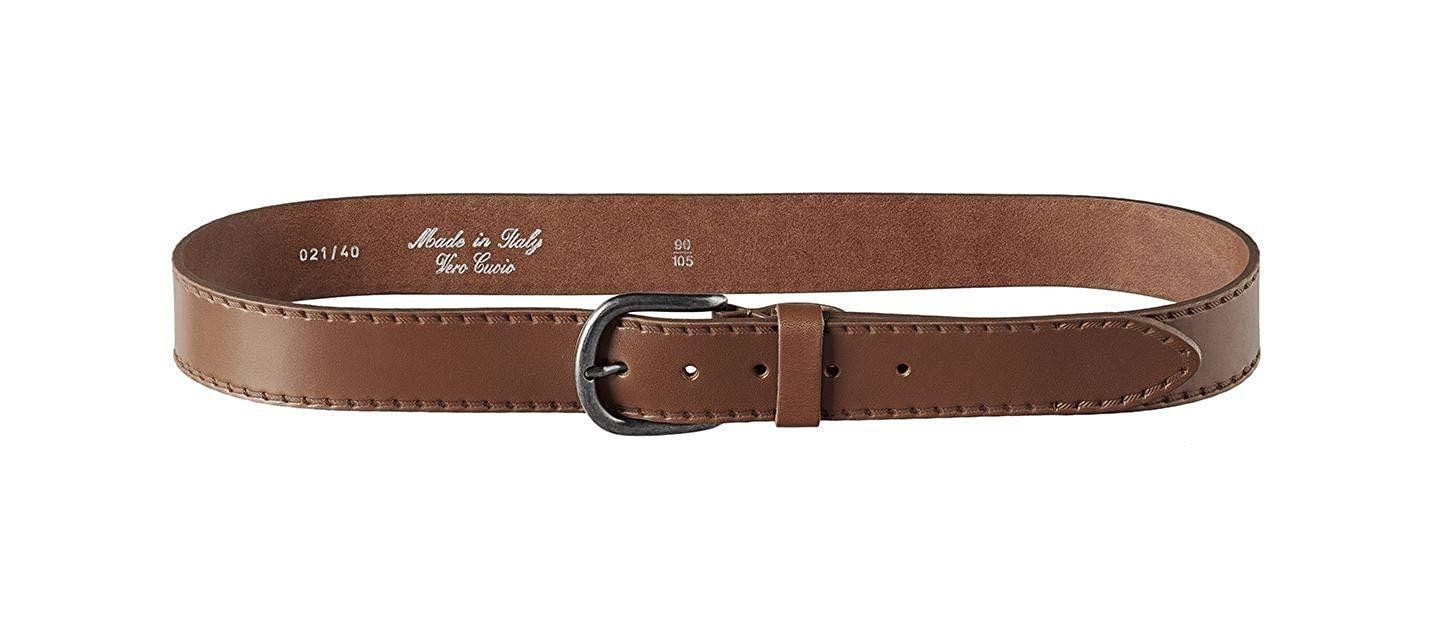 Mens Italian 100/% Real Leather Jeans Chinos Belt Made in Italy Smart Casual Stitch Design