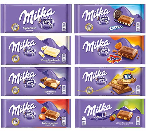 - Milka Assorted Chocolates Variety Pack of 8 Bars (Bundle #2)