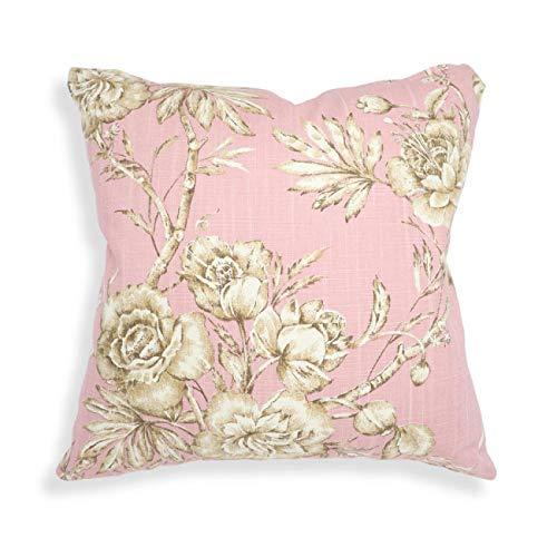 Declea Cojín de algodón Flores Color de Rosa para Muebles ...