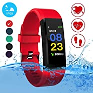 Blood Pressure Watch - Smart Watches for Women & Men, Fitness Tracker, Heart Rate Monitor, Color Smart Watch Bracelet. Reloj Inteligente Pedometer Activity for Android & iPhones iOS
