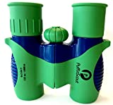 PuffinScout Kids Binoculars Set 8×21 for Boys Green orPINK for Bird-Watching – Spotting – High Resolution Real Optics Star-Gazing Educational Toys – Outdoor Toys for Boys and Girls – Birthday Gifts Review