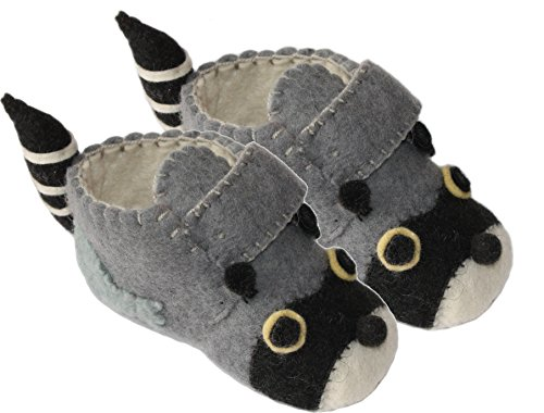 Silk Baby Shoes - Silk Road Bazaar Raccoon Zooties, 2-3 Years