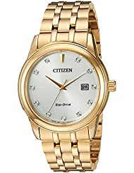 Citizen Mens PAIRS Quartz Stainless Steel Casual Watch, Color:Gold-Toned (Model: BM7342-50A)
