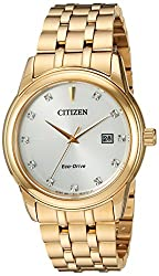 Citizen Men's 'PAIRS' Quartz Stainless Steel Casual Watch, Color:Gold-Toned (Model: BM7342-50A)