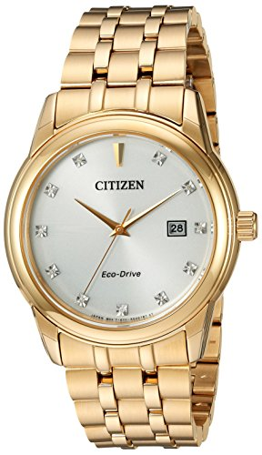 Citizen Men's 'PAIRS' Quartz Stainless Steel Casual Watch, Color:Gold-Toned (Model: BM7342-50A)