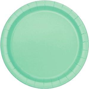 Unique 99224 Mint Paper Cake Plates, Party Tableware, 20 Ct