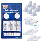Safety Magnetic Child-Proof Locking System by iYO! Box- 6 Locks and 2 Keys. Easy Installation, Drill Free, Bonus - Free Home Saftey Ebook, Installation PDF and Video Guide.