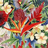 Tropical Floral Flower Decorative Ceramic Wall Art Tile 6x6