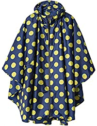 Rain Poncho Jacket Coat for Adults Hooded Waterproof with...