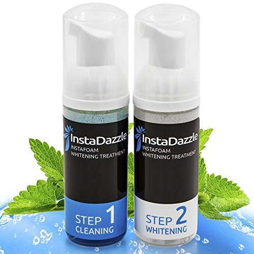 Price comparison product image InstaDazzle InstaFoam - Teeth Whitening Foam Kit for a Whiter & Brighter Smile, Easy 2 Step Daily System, Apply With Toothbrush, Refreshing Cool Mint Taste