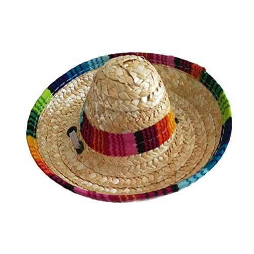 UEETEK Dog Sombrero Hat Funny Dog Costume Chihuahua Clothes Mexican Party Decorations ()