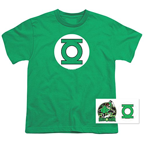 Youth Green Lantern Logo T Shirt for Boys (Small)
