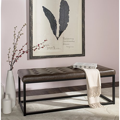 - Safavieh Home Collection Reynolds Brown & Black Bench