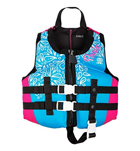 Ronix August Girl's - CGA Life Vest - Sky Blue/Pink/White - Child (30-50lbs) (2020) by Ronix