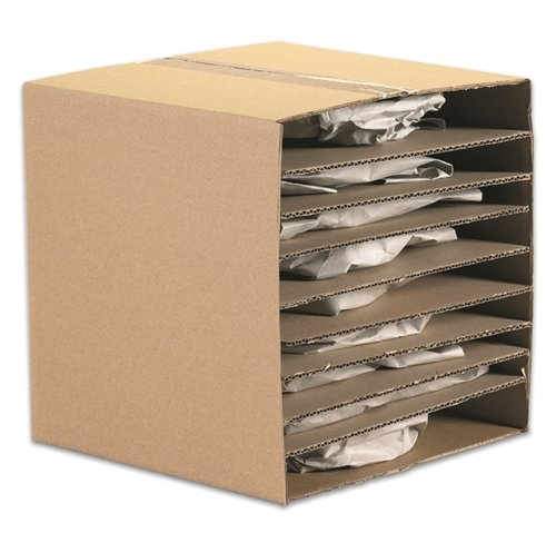 The Packaging Wholesalers 11-7/8 x 11-7/8 Inches Corrugated Layer Pad (Corrugated Stiffener Pads)