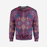 3D Print Purple Pullover Sweater