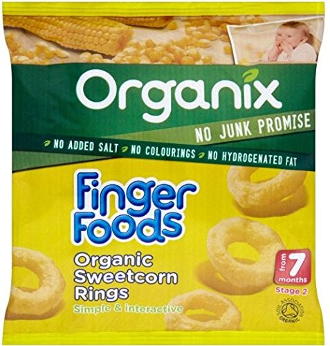 Organix Finger Foods Organic Sweetcorn Rings 7mth+ (20g) Grocery