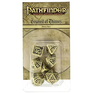 Q WORKSHOP Pathfinder Council of Theves Rpg Ornamented Dice Set 7 Polyhedral Pieces