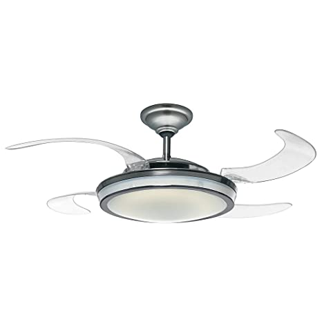 Hunter 59085 Fanaway Retractable Blade 48 Brushed Chrome Ceiling