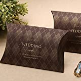 Wedding Favor Candy Boxes Taro Pie Pillow Shaped Gift Boxes -100pieces