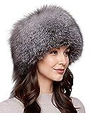 frr Dutchess Fox Fur Hat in Frost